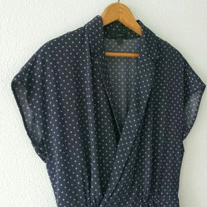 Navy, pindot jumpsuit. Worn only once.